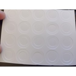 20X Pet White 18650 Battery Insulator Ring Stickers  Electrical Insulating  for Sleeving 18650 Cells