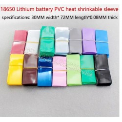 18650 Tubi termorestringenti in PVC Flat Wrap 300PCS